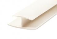 H-образный белый PVC профиль 3000мм